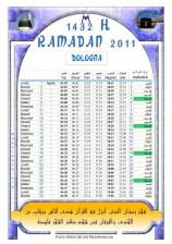 Calendario ramadan 1432/2011